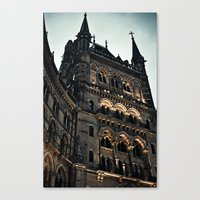 dark tower Canvas Prints featuring The dark tower by grbush