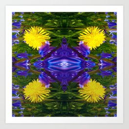 Dandy Four pattern Art Print