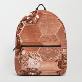 Rose gold hexaglam blonde Backpack