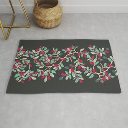 Minty Pinky Branches Rug