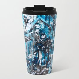 """One For Sorrow, Two For Joy"" Original Painting by Julia Barnickle Metal Travel Mug"