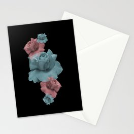 Glitch Roses Stationery Cards