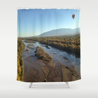 rio Shower Curtains featuring Rio Grande by Isaak_Rodriguez