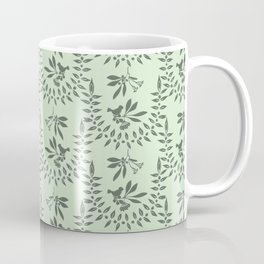 Green Nature Olive Leaf Berry Birds Branch Coffee Mug