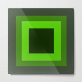 Dark Green Square Design 1 Metal Print