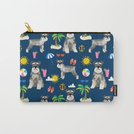 Schnauzer dog breed summer tropical dog pattern gifts schnauzers Carry-All Pouch