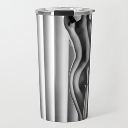 Sexy Black & White Nude Travel Mug