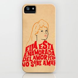 She's in love with love iPhone Case