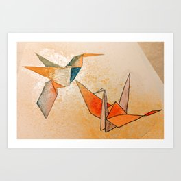 Oragami Birds Art Print
