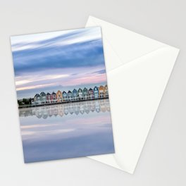 Rainbow houses in Netherlands Stationery Cards