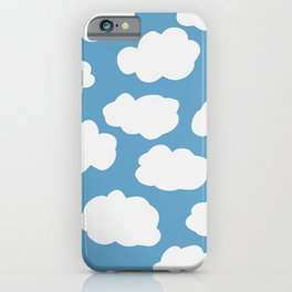 Blue Sky and Fluffy White Clouds iPhone Case