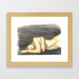 Detached Framed Art Print