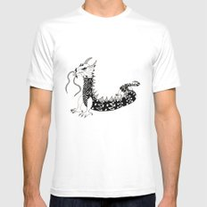 Dragon of the Dark White Mens Fitted Tee MEDIUM