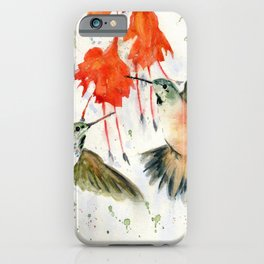 Hummingbird Watercolor iPhone Case