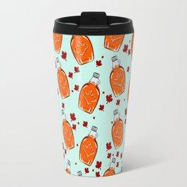 Super Canadian Maple Syrup Pattern Travel Mug