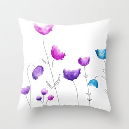 Blooming Fresh Flowers Throw Pillow