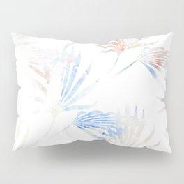 Palmetto Fronds Pattern Pastel Pink Blue Pillow Sham