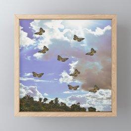 Angelic pastel sky clouds Framed Mini Art Print