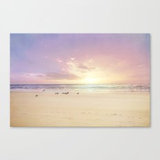 the beach is my happy place Canvas Print