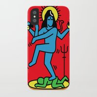 keith haring iPhone & iPod Cases featuring Shiva Keith Haring Tribute by Tshirtbaba