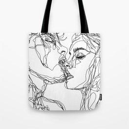 kiss more often (B & W) Tote Bag
