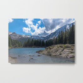 Island in the Alps Metal Print