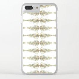 Watercolor Fern Pattern Clear iPhone Case