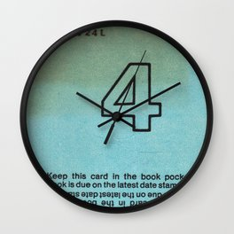 Ilium Public Library Card No. 4 Wall Clock