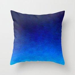 Cyan Circular Throw Pillow