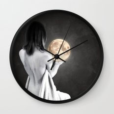 Moon Contemplation Wall Clock