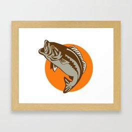 largemouth bass jumping Framed Art Print