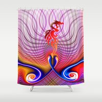dragon Shower Curtains featuring Dragon by haroulita