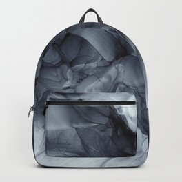 Gray Black Gradient Dramatic Flowing Abstract Painting Backpack