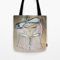 art history Tote Bags featuring Pink Ladies: Art History by Amy Burvall