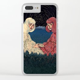 Snow White and Rose Red Clear iPhone Case