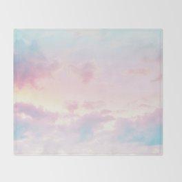Unicorn Pastel Clouds #2 #decor #art #society6 Throw Blanket