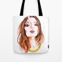 cigarette Tote Bags featuring E Cigarette  by Liz Slome
