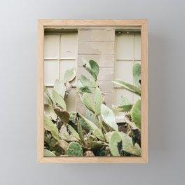 Pink Cactus dreams Framed Mini Art Print