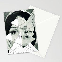 Frau mit Dreieck 3 Stationery Cards