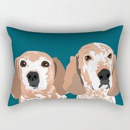Molly and  Elwood Rectangular Pillow