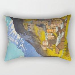 The Matterhorn 1925 Hiroshi Yoshida Vintage Japanese Woodblock Print Rectangular Pillow