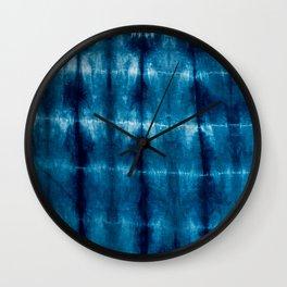 indigo shibori Wall Clock