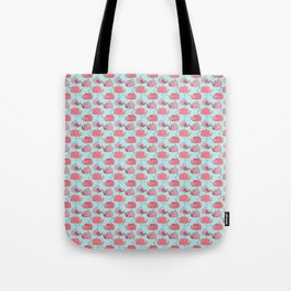 thousands of little pink wales Tote Bag
