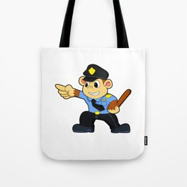 Monkey as Police officer - Police Tote Bag