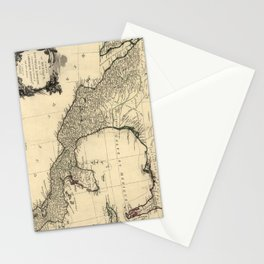 Vintage Map of Mexico (1779) Stationery Cards