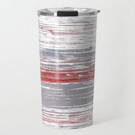 Red-gray abstract Travel Mug