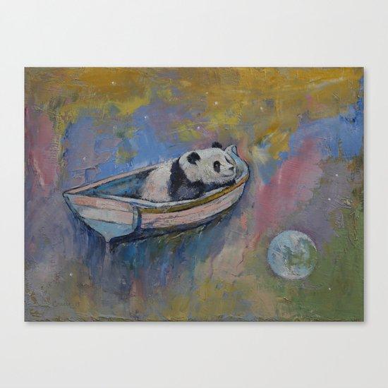 Panda Moon Canvas Print
