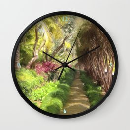 Madeira Sidewalk Wall Clock