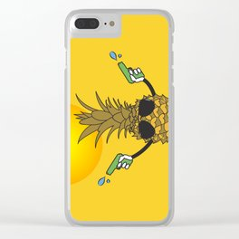 Sun's Out Guns Out Clear iPhone Case