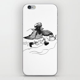 A Raven with a strict wife iPhone Skin